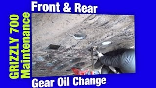 10. 2011 Yamaha Grizzly 700 Maintenance - Front & Rear Gear Oil Change With Cubbee