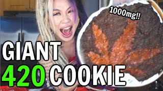 MAKING A GIANT 420 EDIBLE COOKIE | Kimmy Tan by Kimmy Tan