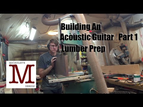 Building an Acoustic Guitar Part 1, Lumber Prep – 024