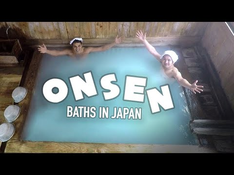 Japanese Onsen Bath Experience: Hot Spring Paradise ★ ONLY in JAPAN (видео)