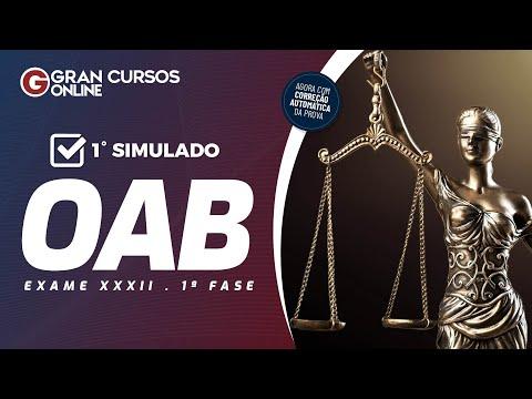 Correção do 1º Simulado OAB - 1ª Fase do Exame XXXII