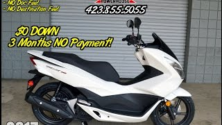 7. 2017 Honda PCX150 Scooter Review of Specs - White PCX @ Honda of Chattanooga TN Dealer