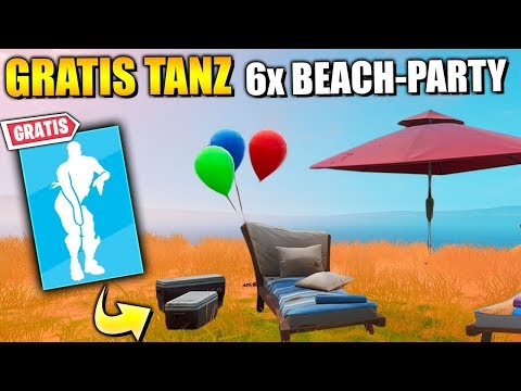 KOSTENLOSE Items 🎁 Tanze An Beach Party | Fortnite 14 Tage Sommer Herausforderung Deutsch