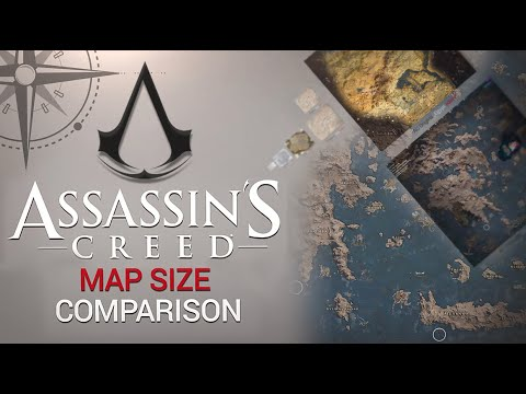 Assassin's Creed: All Maps SIZE Comparison ( AC3 AC4 AC:Odyssey)