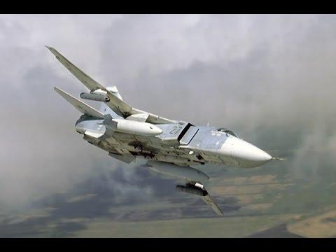 El cazabombardero ruso Su-24. Un...