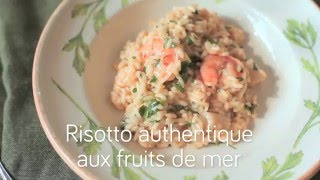 Risotto authentique aux fruits de mer