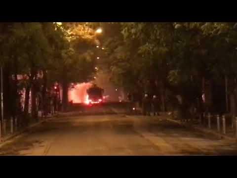 Επίθεση με μολότοφ στην αύρα της αστυνομίας