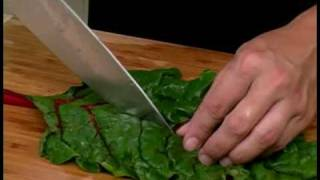 Cooking Tips: How to Prepare Red Swiss Chard. Basic cooking techniques and tips. Expert Village How-to Videos.