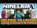 Minecraft Mody - Helpful Villagers Mod - Stwórz Armie Villagerów - Żołnierze, Farmerzy, Górnicy!