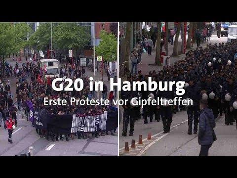 G20-Gipfel: Erste Proteste in Hamburg