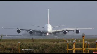 Video Airbus a380 landing This Is What Professionals pilots Do on wet runway MP3, 3GP, MP4, WEBM, AVI, FLV Juli 2019