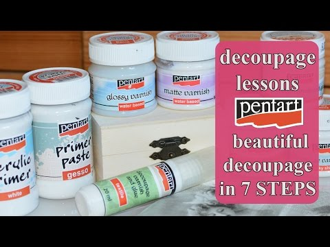 DECOUPAGE for beginners - What is decoupage ? What materials you need ? -  Pentart   / Découpage