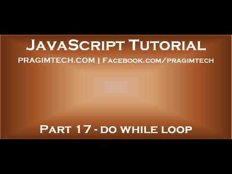 do while loop in JavaScript