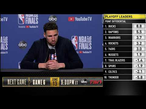 Klay Thompson Press Conference | NBA Finals Game 5