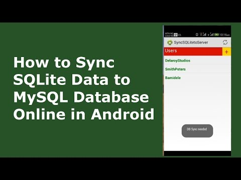 HOW TO SYNC SQLite DATA TO MySQL DATABASE ONLINE IN ANDROID