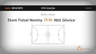 Ekom Futsal Nowiny – Nbit Gliwice (18 kolejka) - skrót