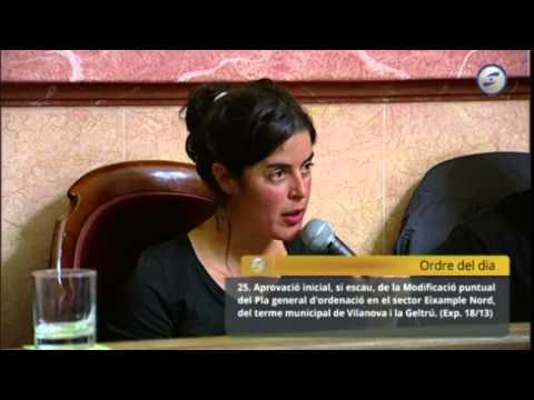 Marta Jofra al Ple Municipal