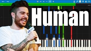 Jon Bellion - Human (Acoustic Full Version | Synthesia Piano Tutorial
