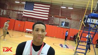 2014 E.J. Montgomery Interview - DraftExpress - USA Basketball Men's Junior National Team Mini-Camp
