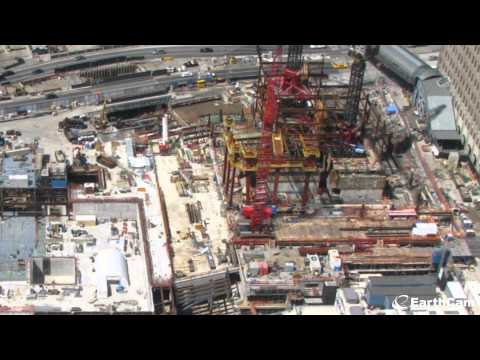 Image of The construction of the new One World Trade Center in stop motion from 2004 - 2012