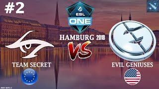 Secret vs EG #2 (BO2) | ESL One Hamburg 2018