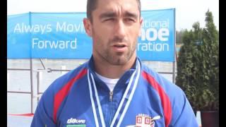 SK Račice 2016: Marko Novakovic posle osvajanja srebrne medalje u  K4 200