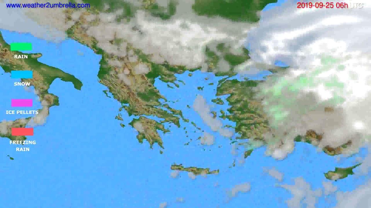 Precipitation forecast Greece // modelrun: 00h UTC 2019-09-23