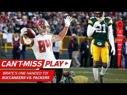 Video: Cameron Brate's One-Handed TD Catch, Bucs Take the Lead! | Can't-Miss Play | NFL Wk 13 Highlights