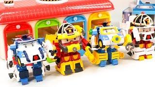 RobocaPoli SpaceMarine Pack Police Poli FireMan Roi Rescue Tayo MiniForce PlaySet Transformation