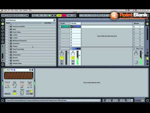 Ableton Live Tutorial – Gated Textures using Autopan