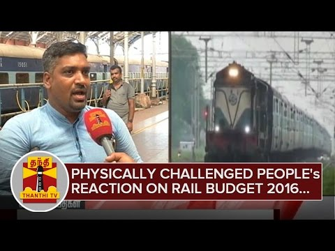 Physically-Challenged-Peoples-Reaction-on-Railway-Budget-2016-26-02-2016