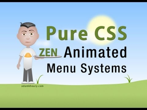 Pure CSS Animated Menu Buttons CSS3 transition HTML5