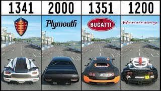Forza 7 - EPIC 5800HP DRIFT BATTLE - Koenigsegg VS Hennessey VS Bugatti VS Fast & Furious Plymouth