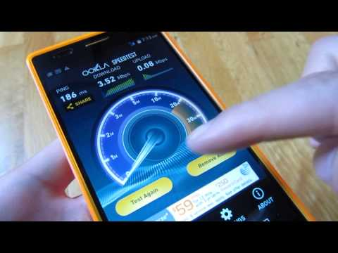 BLU Life 8 XL (2015) - HSPA+ 4G Speed Test T-Mobile Network Demo