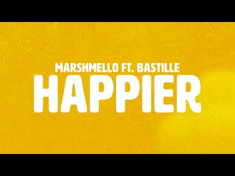 Marshmello ft. Bastille - Happier (Official Lyric Video) (видео)