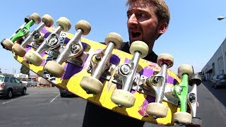 Video AS MANY TRUCKS ON ONE BOARD AS POSSIBLE! | STUPID SKATE EP 101 MP3, 3GP, MP4, WEBM, AVI, FLV Oktober 2017