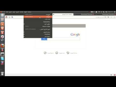 بديل برنامج Internet Download Manager   على Ubuntu 13.4 (видео)