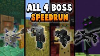 Minecraft Boss Run: How Fast Can I Kill All 4 Bosses? (FAIL)