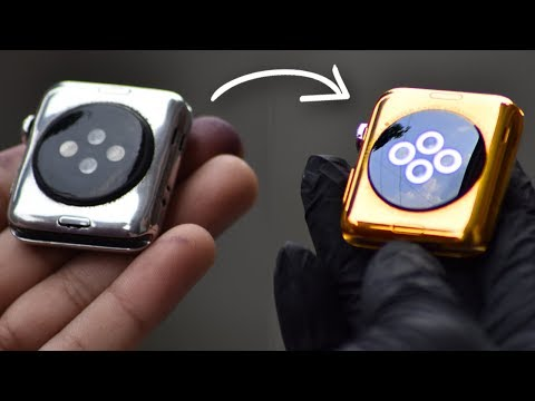 Turning Apple Watch into 24K Gold Watch