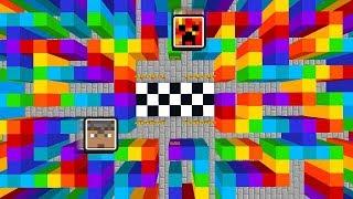 MINECRAFT RAINBOW MAZE ESCAPE! 1v1 MAZE RACE with PrestonPlayz! (Maze Runner)