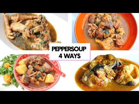 4 WAYS TO COOK PEPPER SOUP | CATFISH, CHICKEN, GOAT MEAT, UKODO!