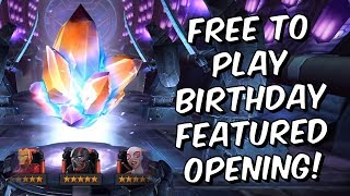Nonton Free To Play Birthday Featured 5 Star Crystal Opening    Marvel Contest Of Champions Film Subtitle Indonesia Streaming Movie Download