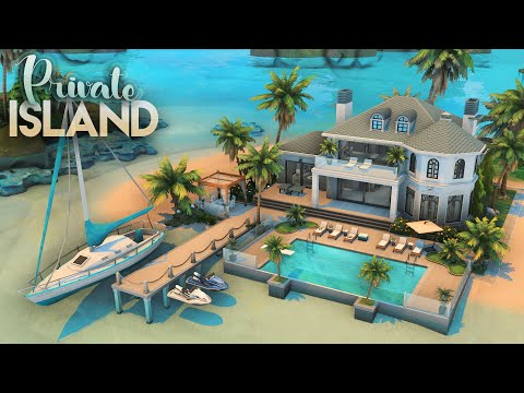 PRIVATE ISLAND HOUSE | 3 Bdr + 4 Bth | NO CC | The Sims 4: Speed Build