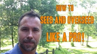How to Seed and Overseed your lawn like a PRO. Step by step instructions so you can do it yourself! We also talk about what kind...