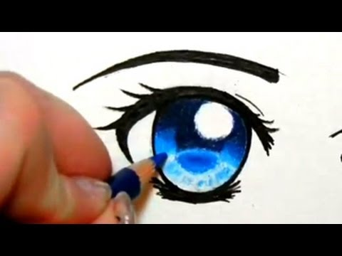 eye pencil - These eyes are NOT part of the same face! They are both right eyes (you can tell by the eyebrow shape and the location of the outer eye corner). So stop tell...