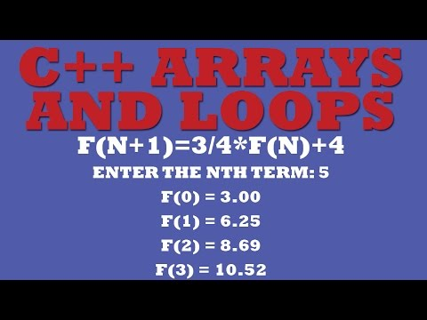C++ Arrays Manipulation Using C++ Arrays, C++ Loops