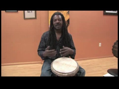How to Play African Drums : First Djembe Part for Kuku Rhythm