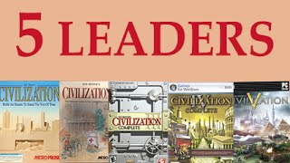 Video The 5 leaders that appear in all 5 CIV games MP3, 3GP, MP4, WEBM, AVI, FLV Januari 2018