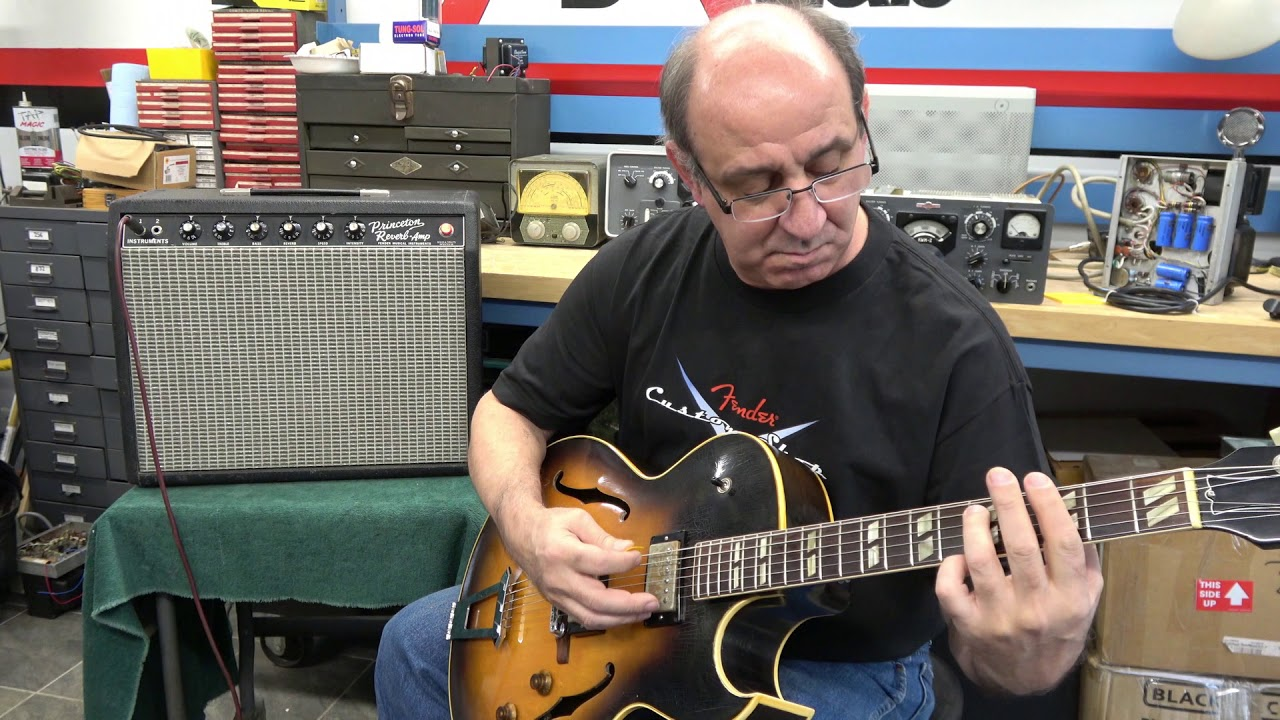 1957 Vintage Gibson ES 175 Electric Guitar Demo with Fender Princeton
