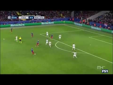 CSKA Moscow 1 - 4 Manchester United ~ All Goals And & Highlights  27.09.2017